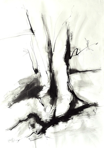 Stick and Ink Tree
